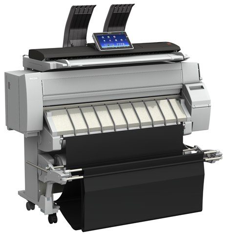 Ricoh MPC W2201SP black and white wide format printer plotter model MPC W2201SP at SaraMana Business Products