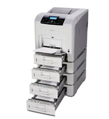 Ricoh Aficio spc430dn color laser printer available for sale at SaraMana Business Products